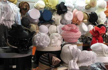 Hats at Shivern's Fashions in Sumter, S.C.